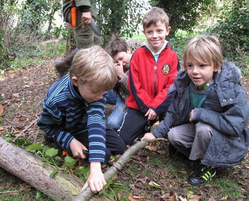 Family Bushcraft camp